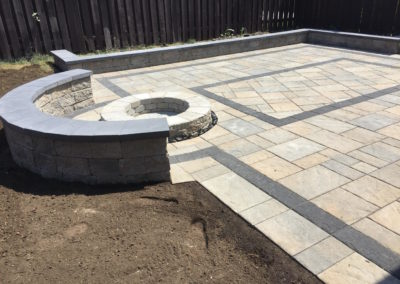 Elcon Contracting Stone Patio & Firepit