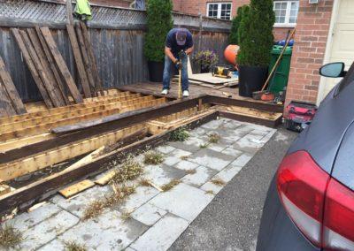 Elcon Contracting Patio Under Construction